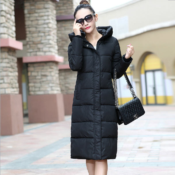 2017 Winter Women Parka Outerwear Cotton Padded Jacket Ladies Long Coat Super Warm Thick Hooded Leisure  Cotton Coat A729 2017 winter coat women cotton padded hooded jacket parka female wadded jacket outerwear jacket women ladies coats
