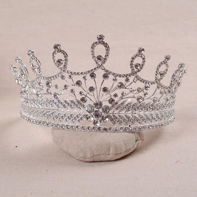 تيجان ملكية  امبراطورية فاخرة Exquisite-Vintage-font-b-Silver-b-font-Clear-Crystal-Baroque-styles-Full-Round-Wedding-font-b