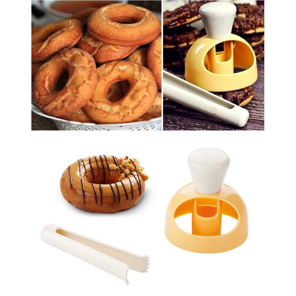Cetakan Donat Dapur Makanan Penutup Roti Patisserie Bakery Baking Alat Pemotong Makanan DIY Cookie Kue Stensil Donat Pembuat Cetakan