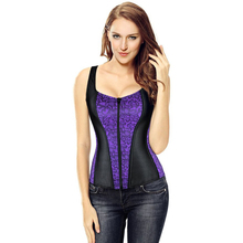 Women Corset 2019 New Vest Tops Fashionable Bustier Corselet Overbust Red Black With Straps Satin Sexy Lingerie 2928