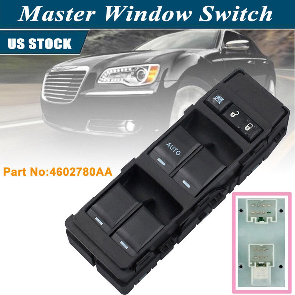 Master power window switch driver side front 04602780aa for chrysler 300c dodge avenger caliber dxy88