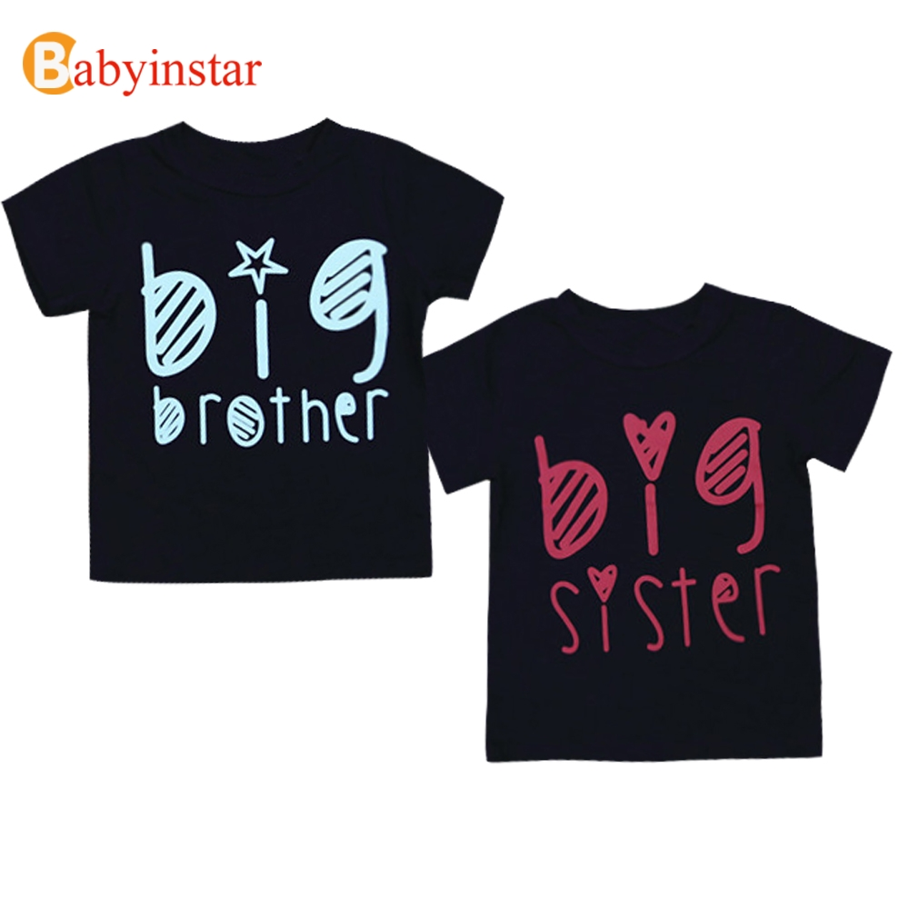 Babyinstar Family Matching Outfits Sisters Brother T-shirts 2018 Summer Boys Girls Short Sleeve Top Tees Family Fitted