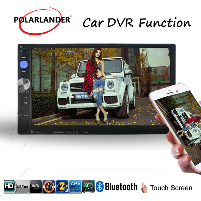 2Din Car Radio Player 7inch Touch Screen Bluetooth Radio Automagnitol Rear Camera Mirror Link  For Android Phone Auto Audio