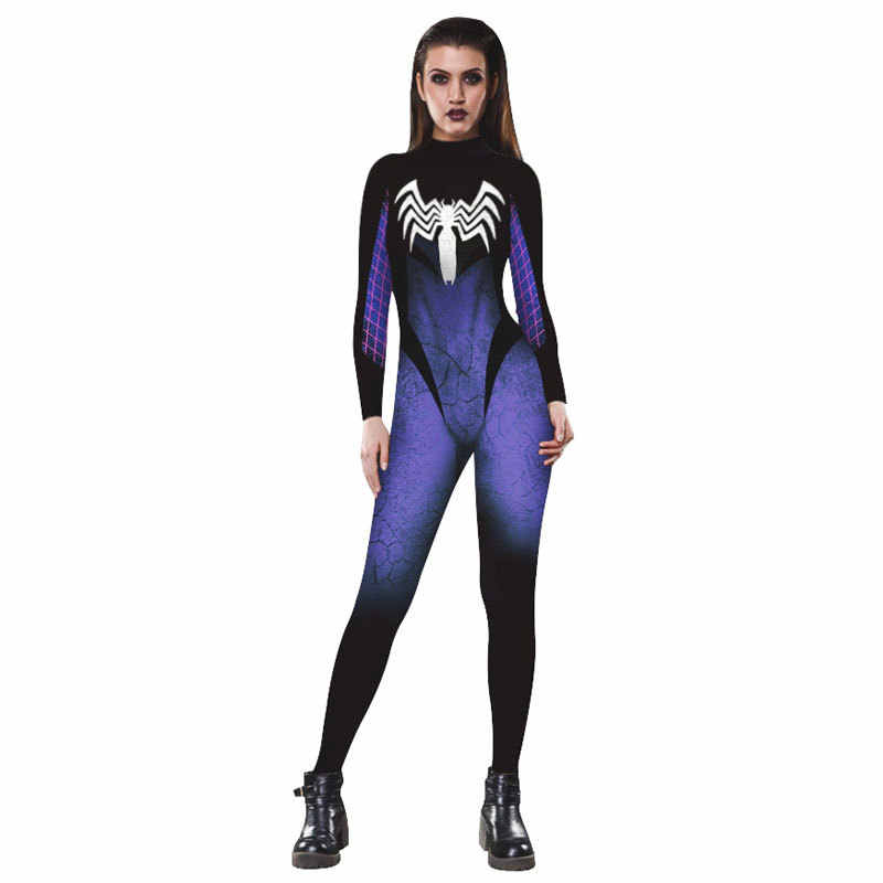 f17591d919 PLstar Cosmos New Movie Spiderman venom surprise caption jumpsuit Europe  and America women Legging fashion tops