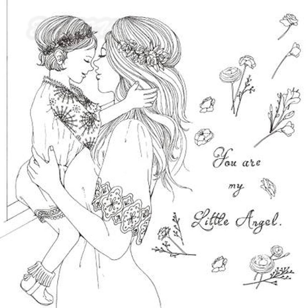 Mujer Embarazada Dibujo Animado Para Colorear