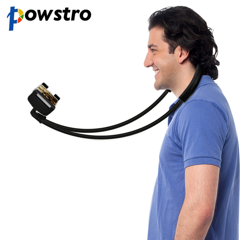 Powstro Flexible Phone Holder Necklace Long Arm Lazy Bracket 360 Degree Rotation Phone Stand For iPhone 7 Samsung Stand Bracket