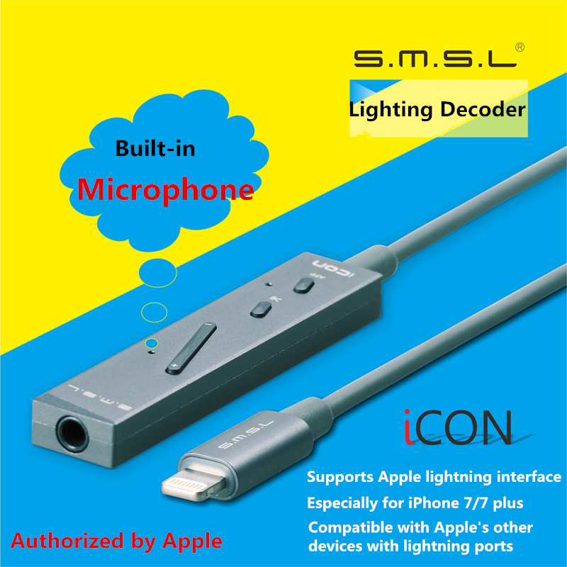 2017 Newest SMSL Icon Mini Portable Lightning Decoder Headphone Amplifier for IOS DAC/Amp Built in Mivrophone Support iPhone 7 -in Amplifier from Consumer ...  sc 1 st  AliExpress.com & 2017 Newest SMSL Icon Mini Portable Lightning Decoder Headphone ... azcodes.com