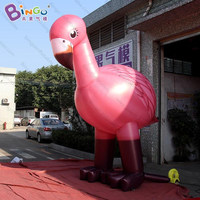 Flamant gonflable géant personnalisé de taille de 13 pieds/flamant rose de 4 m grands jouets gonflables/flamant rose