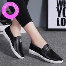 New Spring Autumn Women Flats Leather Shoes Slip On Loafers Fashion Casual Moccasins Female Platform Flat Sneakers Zapatos Mujer стоимость