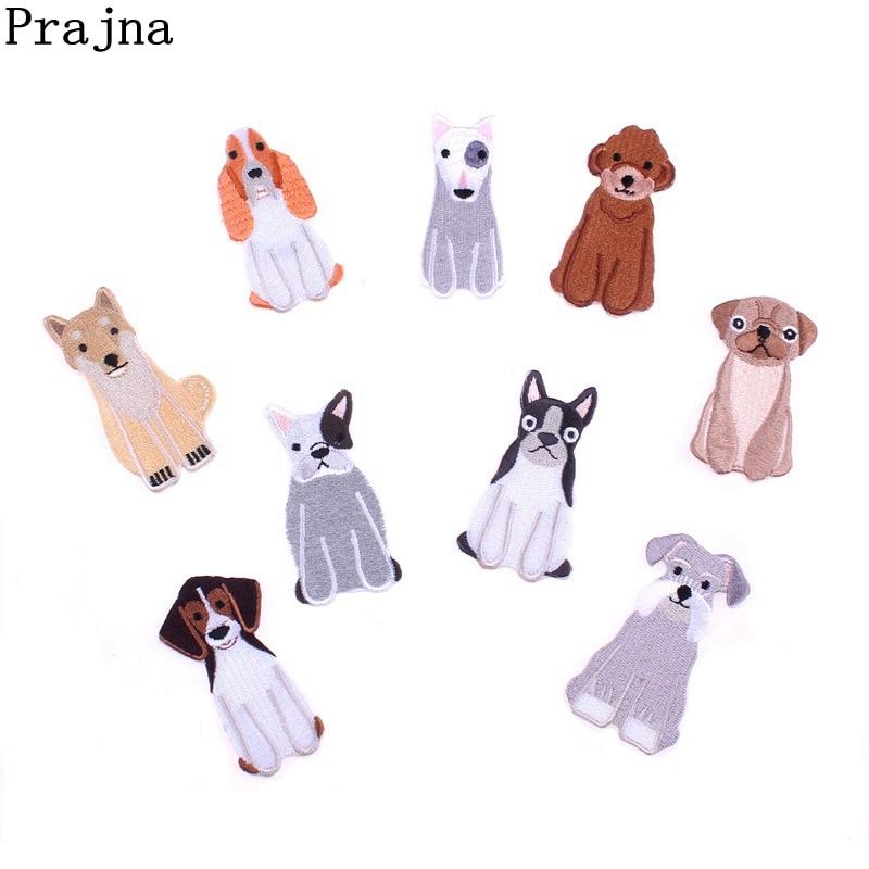 Праджня милый щенок аниме собака Патчи Высокое качество Вышивка Швейные аксессуары гладить аппликации для Костюмы ткань, наклейки
