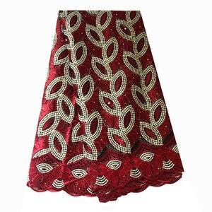 Image 3 - Francese Tessuto di Pizzo Teal Verde In Rilievo Tessuto Africano Del Merletto 2020 di Alta Qualità Pizzo Ricamato Tessuto per la Cerimonia Nuziale Nigeriano Abiti