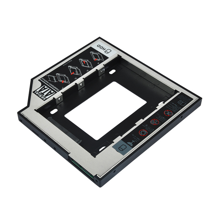 Universal All Aluminum 2nd HDD Caddy 9.5mm 12.7mm SATA 3.0 For 2.5