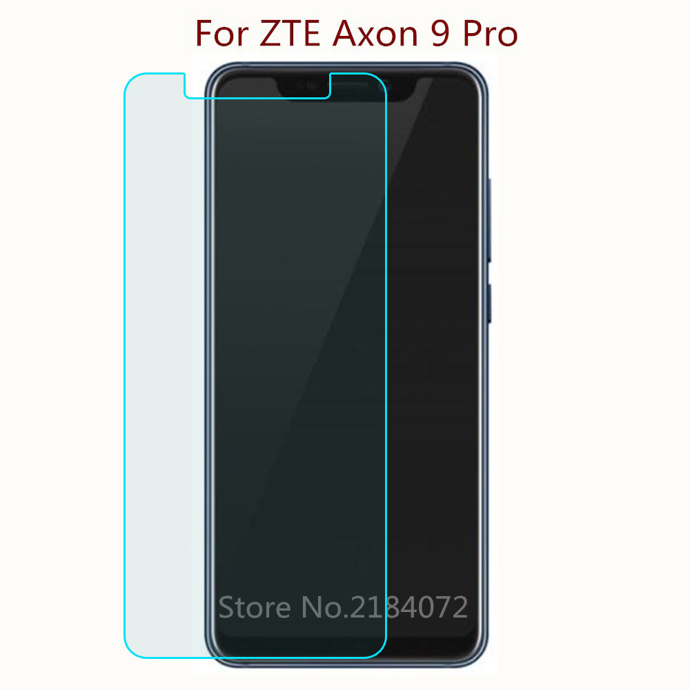 2PCS 9H 2.5D Screen Protector Glass For ZTE Axon 9 Pro Tempered Glass SmartPhone Front Film Protective Screen