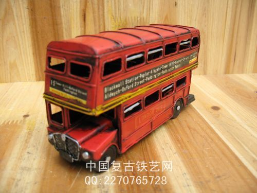 free shipping, Vintage handmade canducum bus cars double layer Small bus model car toy