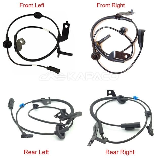 4 pcs F/R Left /Right ABS Wheel Speed Sensor 4670A581