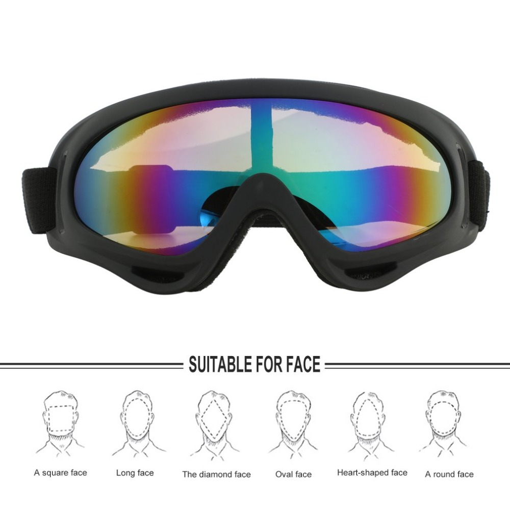 Outdoor Cycling Protective Goggles Bendable Windproof Sports Ski Glasses Fog-proof Skiing Goggles with Elastic Headband