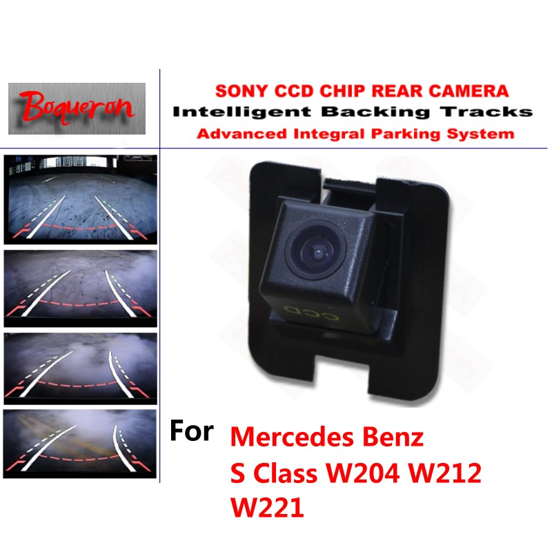 for Mercedes Benz S Class W204 W212 W221 CCD Car Backup Parking Camera Intelligent Tracks Dynamic