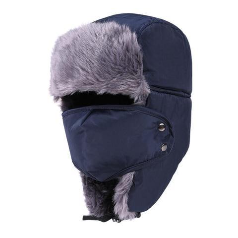 Winter Hat Bomber Hats For Men Women Thicken Balaclava Cotton Fur Winter Earflap Keep Warm Caps Russian Skull Mask Bomber Hats Karachi