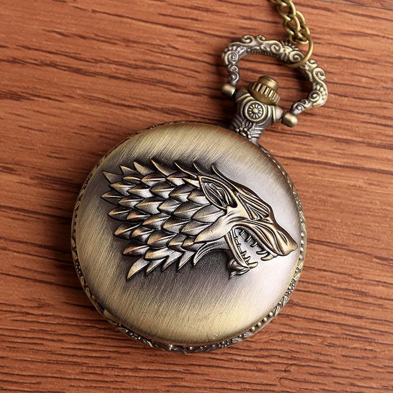 2017 Game of Thrones Stark Winterfell Wolf Medaillon Quartz - Zakhorloge - Foto 5