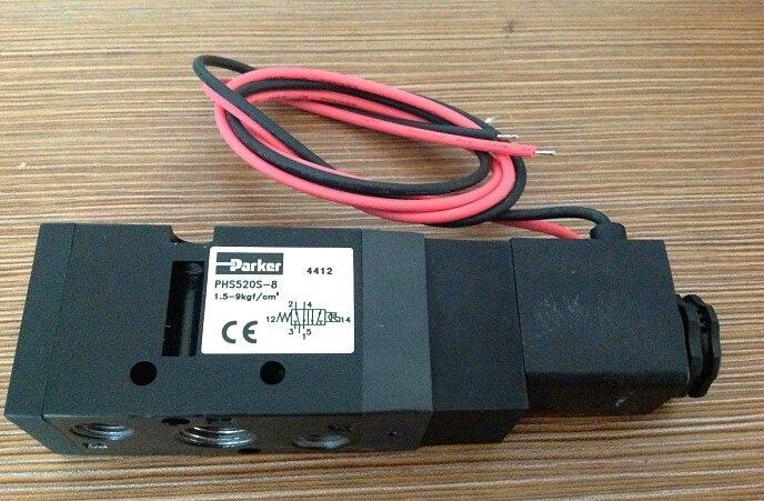 NEW AMERICAN PARKER PHS520S-8-AC110V SOLENOID VALVE 1.0-9 BAR  0.1~0.9MPa phs520d 02 110v d new parker solenoid valve 1 0 9 bar 0 1 0 9mpa