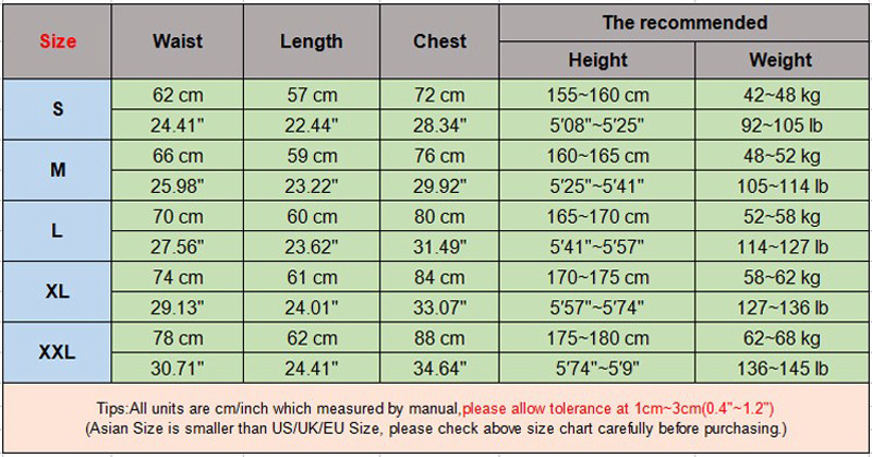 size chart picture