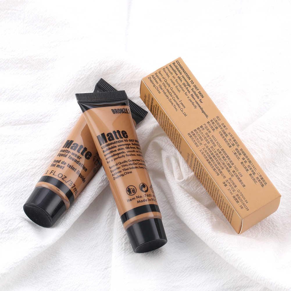 Miss Rose fond de teint professionnel liquide couverture complète fond de teint correcteur huile-contrôle longue durée cosmétique TSLM1