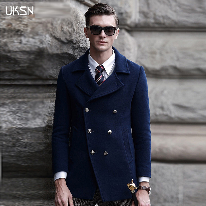 Winter Pea Coat Men | Down Coat
