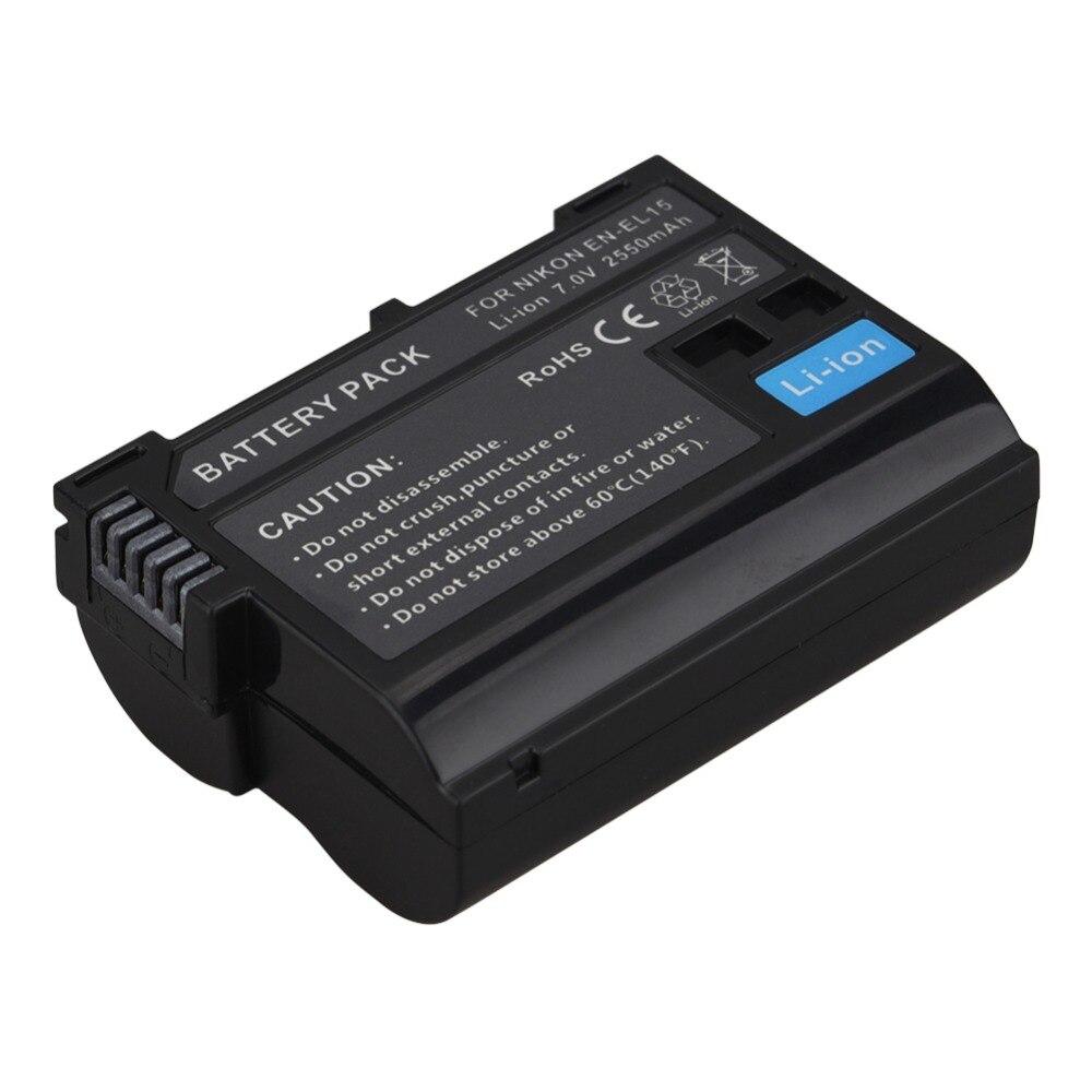 Hot Sale 2550mAh EN-EL15 ENEL15 EN EL15 decoded Camera Battery For Nikon DSLR D600 D610 D800 D800E D810 D7000 D7100 D7200 V1