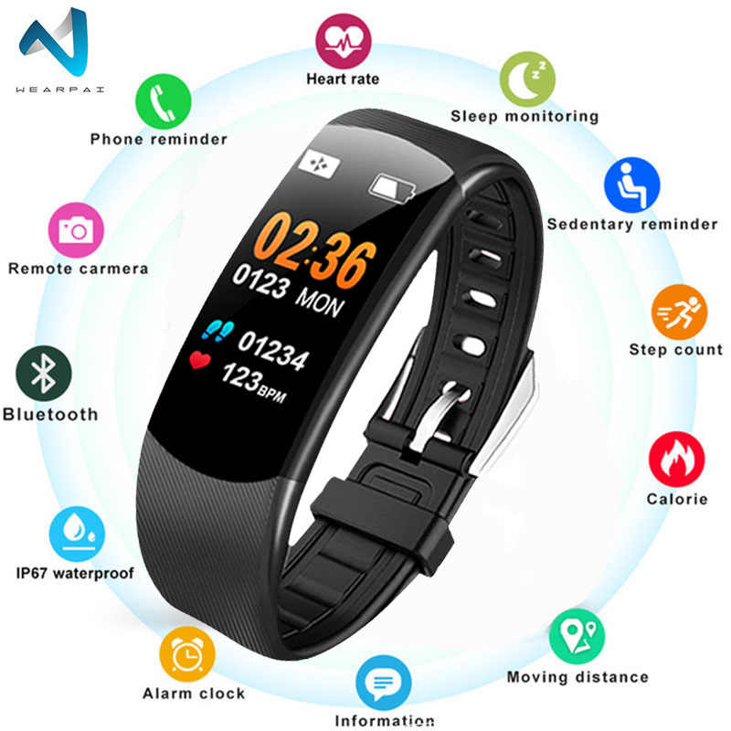 Wearpai C5 New Smart Watch Men Women Heart Rate Monitor Blood Pressure Fitness Tracker Smart Sport Watch for Ios android +BOX
