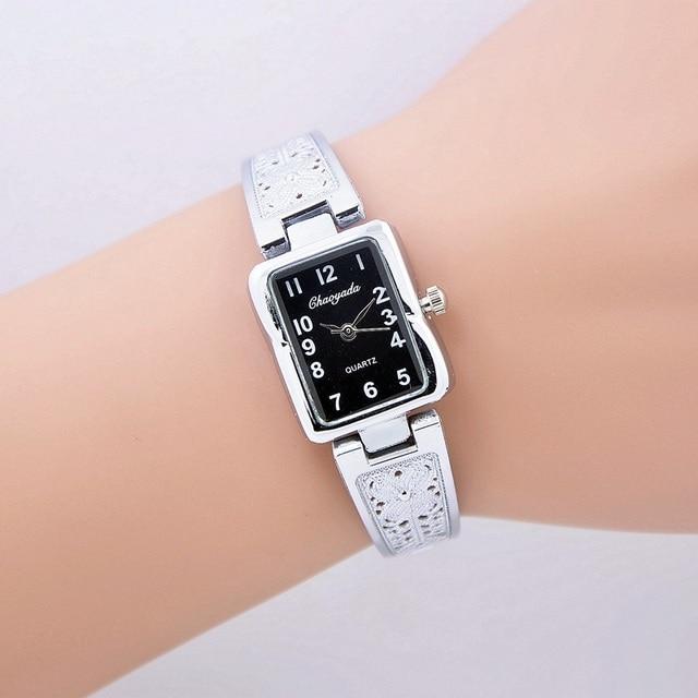 New 2016 Fashion Casual Clock Silver Bracelet Watch Women Rhinestone Watches Wom