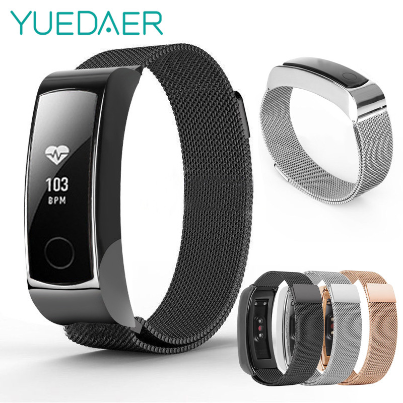 Milanese Loop Strap For Huawei Honor Band 3 Stainless Steel strap Wrist Band replcement for honor band 3 bracelet fitness watch