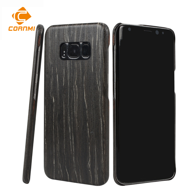 online store 8a56e a5cc2 US $31.44 15% OFF CORNMI Natural Wood Phone Case For Samsung S8 Wood  Perfect Integrated For Samsung S8 Phone Cover Case-in Fitted Cases from ...
