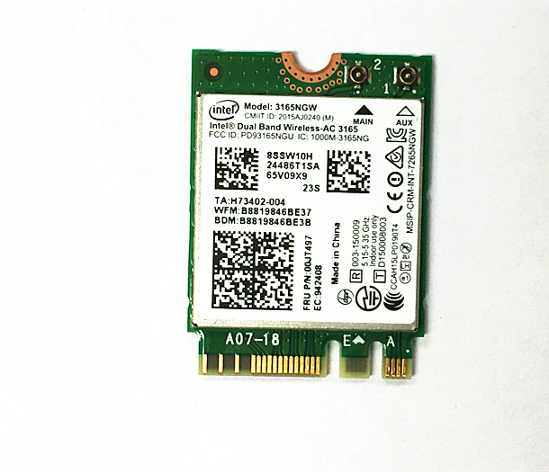 SSEA New Wireles Card for Intel Dual Band AC 3165 <font><b>3165NGW</b></font> NGFF 802.11ac Wifi Bluetooth 4.0 for LENOVO E460 E560 Yoga700 00JT497 image