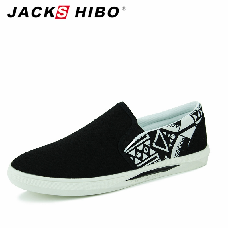 JACKSHIBO Spring Summer Brand Mens Casual Shoes Designer Fashion Slipony Man Canvas Loafers Zapatillas Hombre Flats