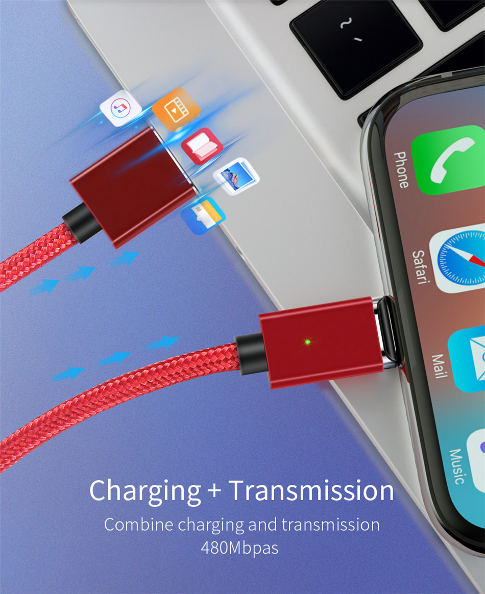 HTB1MJ2vXOnrK1Rjy1Xcq6yeDVXaj - ***PACK OF 3*** Magnetic USB Cable [Fast Charging & Transmission] (6.5FT)