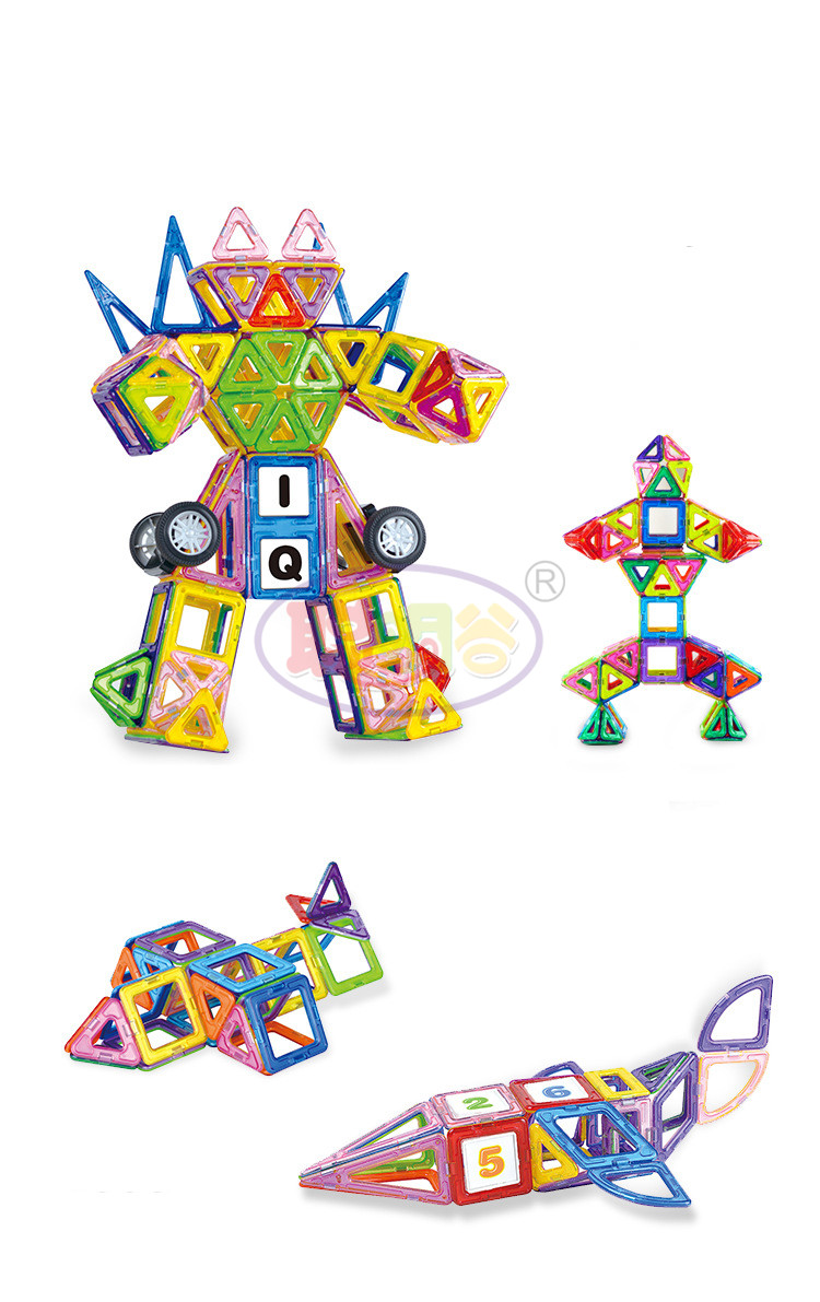 CongMingGu 21Pcs/38Pcs standard size magnetic building blocks Model Building Toys Brick designer Enlighten Bricks magnetic toys 8