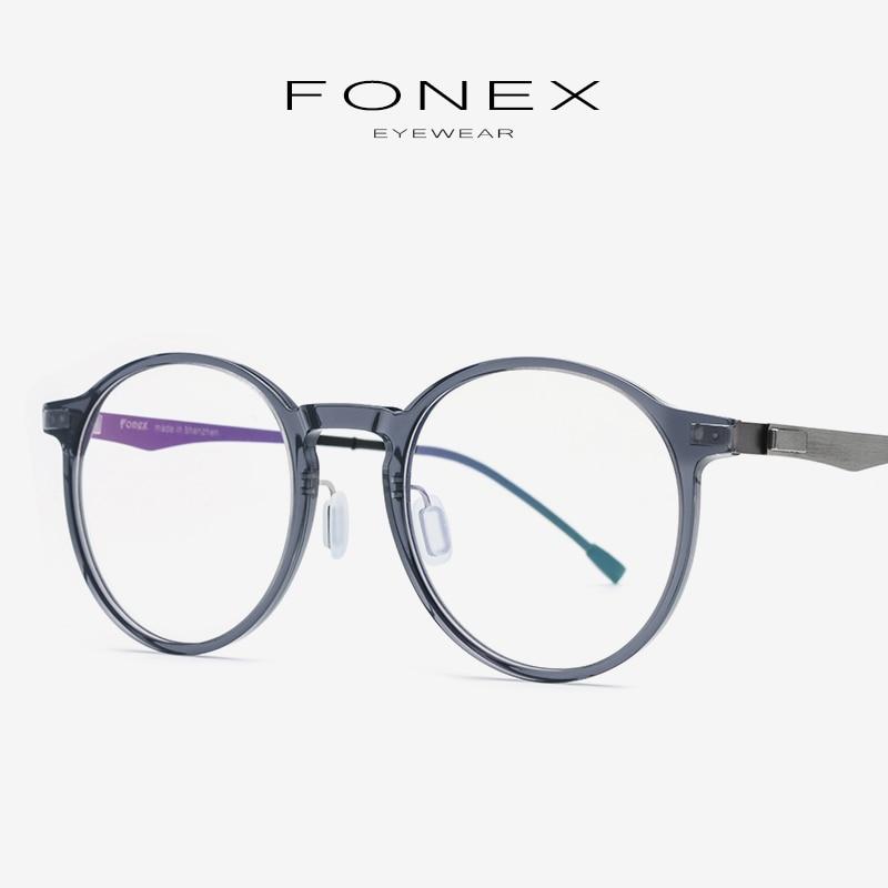 990607ad Montura de gafas ópticas de acetato gafas de prescripción redonda Retro  para mujer 2019 gafas de ...