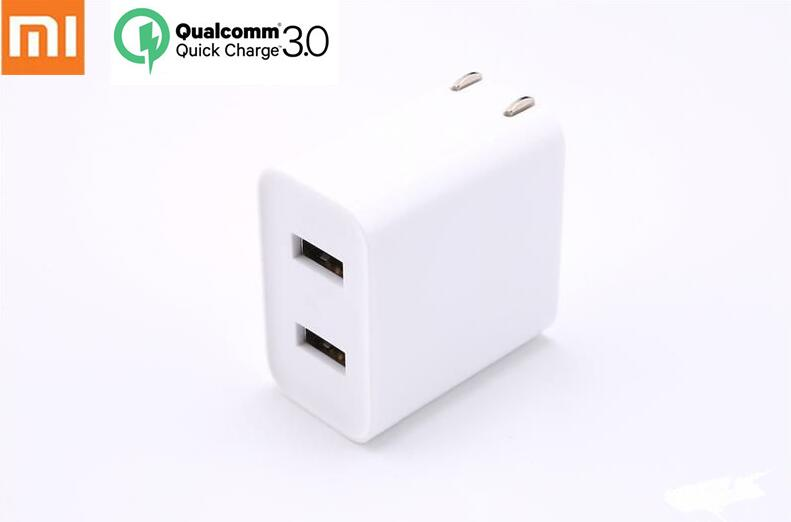 Original Xiaomi USB Charger 2 Port Quick Charge QC3.0 18 20W Travel Charger-in Mobile Phone Chargers from Cellphones & Telecommunications