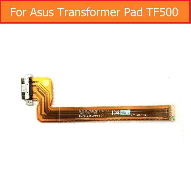 Genuine USB Date Charging Jack Dock Flex Cable For Asus Tranformer Pad TF500 USB Charger Connector Port Flex Cable replacement