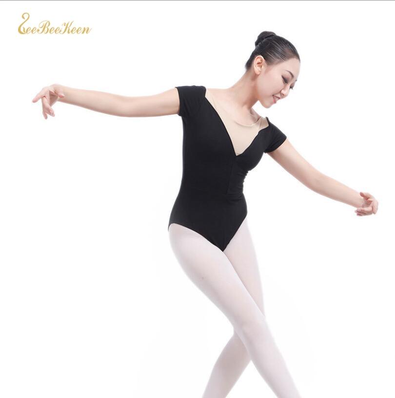 Ballerina Dance Costume Adult SHAPING Gymnastics Leotard Black Ballet Leotard Women Dance Jumpsuit Girls Ballet Dancing Clothes
