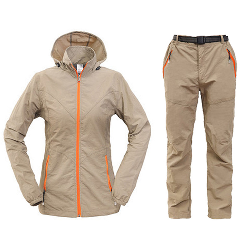 Outdoor Quick Dry Breathable Clothing Set Men Women Spring Summer 2 Pieces Sports Jackets Pants Hiking Camping Clothes RM050 In From
