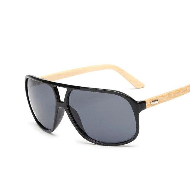 Flat Top Óculos De Sol De Bambu Estilo Marcas Óculos De Sol Das Mulheres  Dos Homens d1b07e3f70
