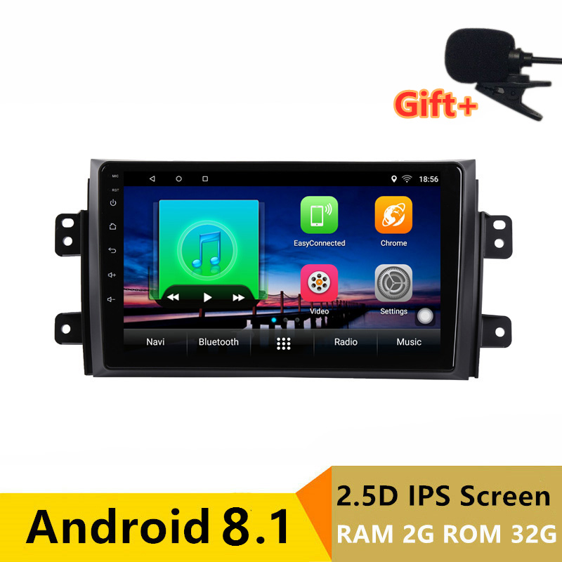 "9"" 2+32G 2.5D IPS Android 8.1 Car DVD Multimedia Player GPS for Suzuki SX4 2006-2012 2013 2015 audio radio stereo navigation"