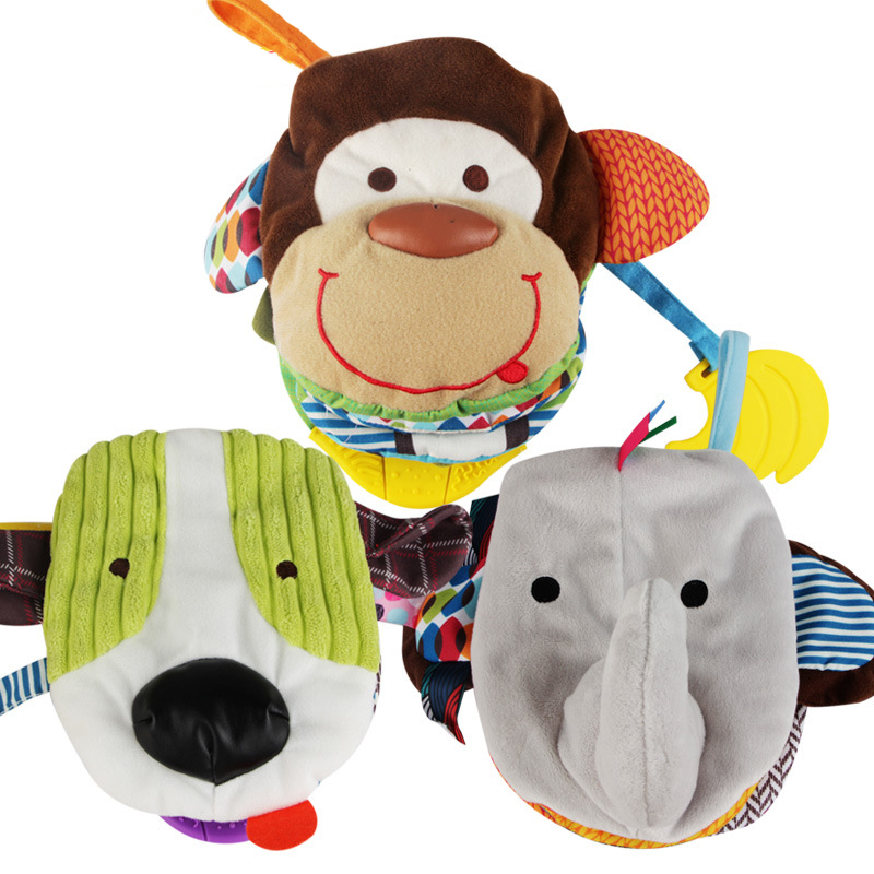 Baby Cloth Books Ratteles Animal Style Toys Infant Kids Early Development Books Learning Education Activity Baby Toys DS19 new stereo flowers baby toys hot new infant kids early development cloth books learning education toys creative gifts books