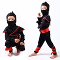 2016 New Ninja Costume Halloween Party Costume Kids Boys Girls Balck Stage Costume Fashion Cosplay Funny Child Clothing Set
