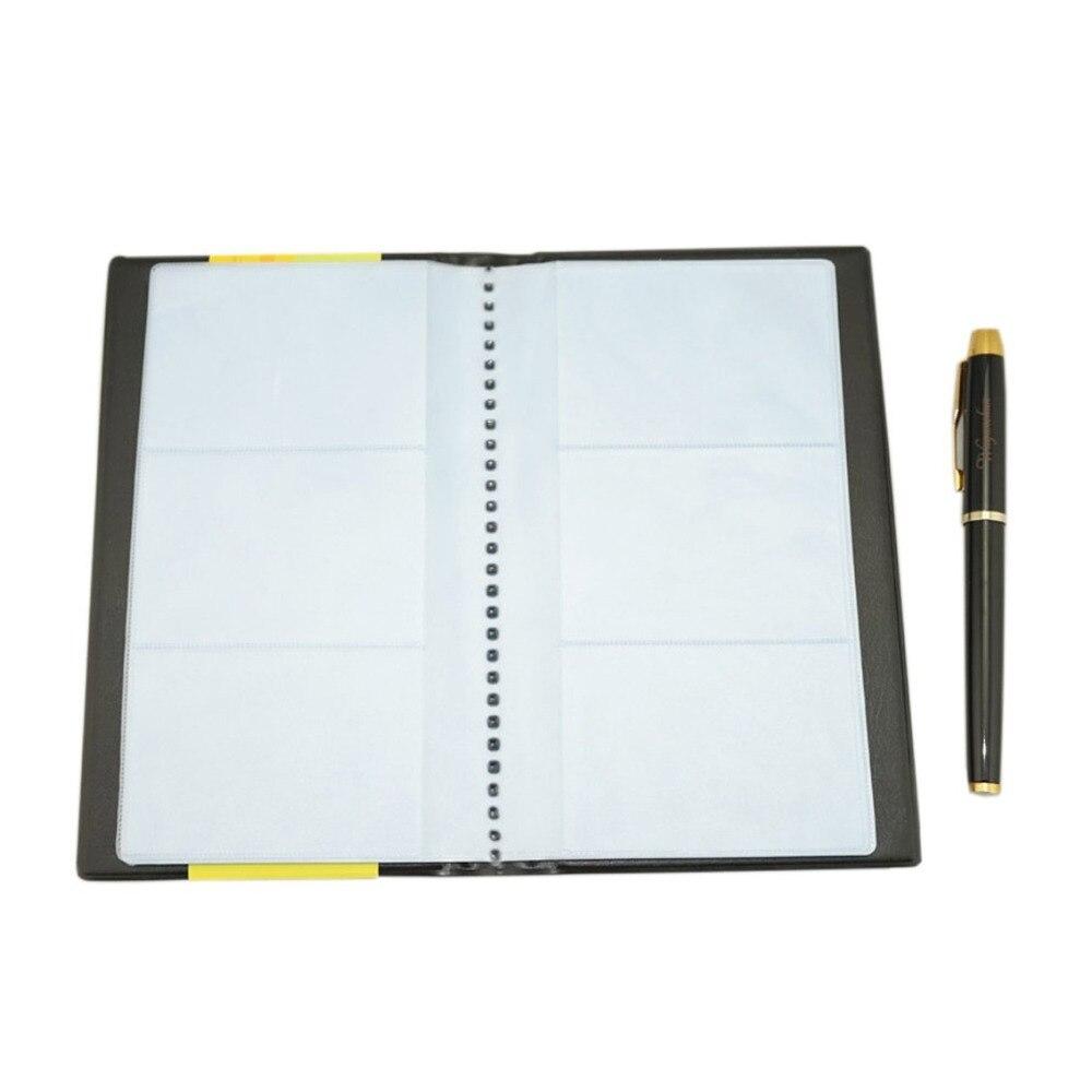 300 Zelle Office & School Supplies Kalender, Planer Und Karten Business Pu-leder Journal Visitenkarte Buch Halter
