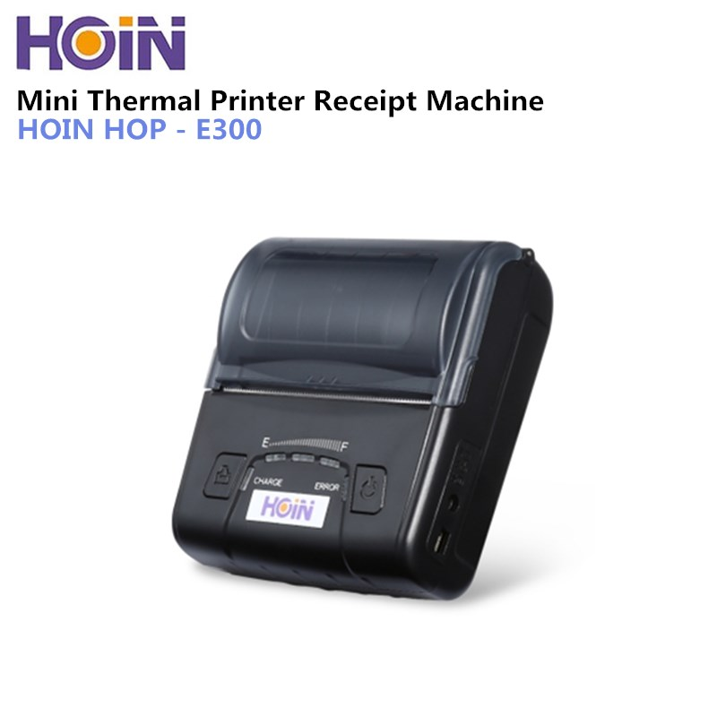 HOIN HOP-E300 Mini Thermal Printer USB Bluetooth 70mm/s Portable Rechargeable Thermal Printer Receipt Machine for Android IOS mini 80mm rechargeable bluetooth thermal receipt printer smartphone android and ios bill printer machine usb serial port hs 85ai