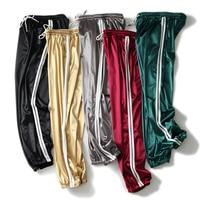 Arfreeker Women Casual Cargo Pants Loose High Elastic Waist Harem Pants Women Loose Striped Bright Color Trousers Pant 2018