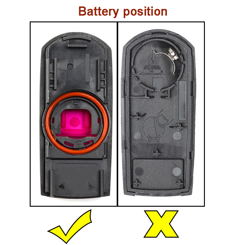 Image 5 - KEYECU for Mazda 3 6 CX 3 CX 5 Replacement 2/ 3/ 2+1/ 4 Button Smart Remote Car Key Shell Case Fob Red Hold with Uncut Blade-in Car Key from Automobiles & Motorcycles