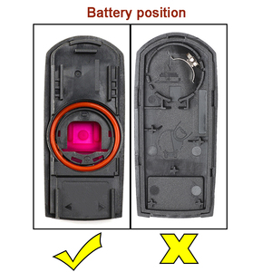 Image 5 - KEYECU for Mazda 3 6 CX 3 CX 5 Replacement 2/ 3/ 2+1/ 4 Button Smart Remote Car Key Shell Case Fob Red Hold with Uncut Blade